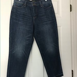 Talbots Ankle Length Raw Edged Denim Jeans